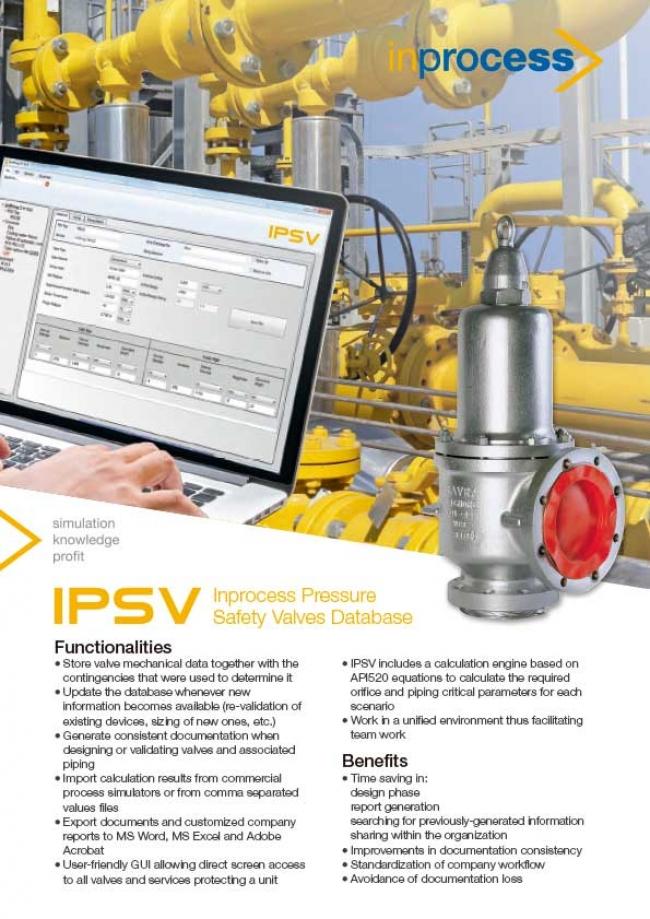 Inprocess Pressure Safety Valves Database