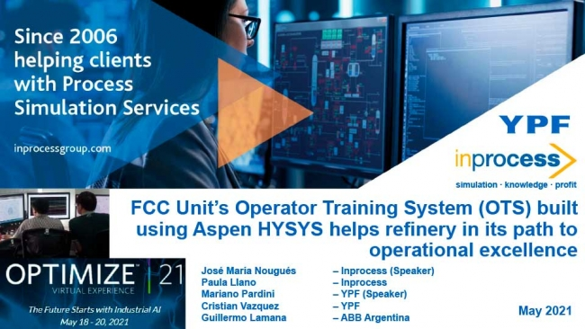 FCC Unit's Operator Training System (OTS) Built Using Aspen HYSYS® Helps Refinery in Its Path to Ope