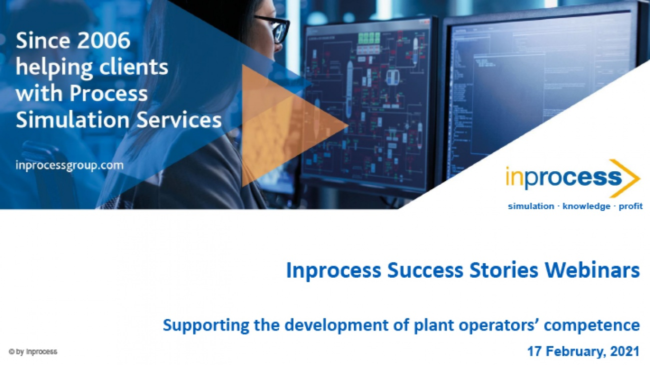 Supporting the development of plant operators' competence